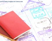Carimbos legais para Passaporte